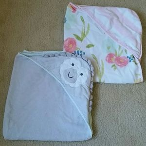 Bundle of baby girl towels